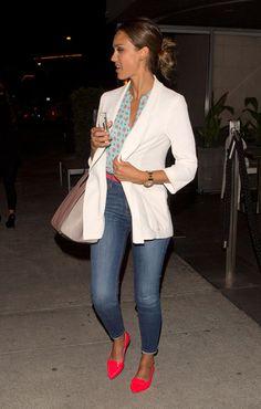 Jessica Alba zapatos planos