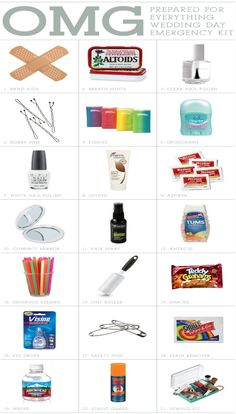 Top 10 DIY Wedding Day Emergency Kits