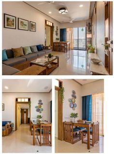 Indian Home Interior, Hall Interior, Apartment Interior, Living Room Interior, Apartment Ideas, Indian Room Decor, Ethnic Home Decor, Home Room Design, Living Room Designs