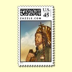 St. Rocco / Roch in Sky Design Postage Stamp by XG Designs NYC