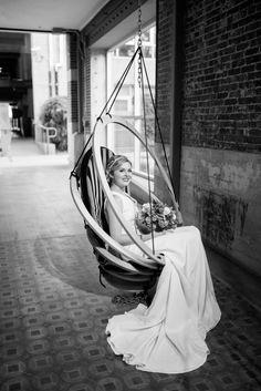 "Photo by: @carissawoophotography  Styling: @bluedoorcreative  MUA: @mobilebridalsalon  Florals: @culvercenterflowers  Gown: @veneaistudio , ""Madison"""