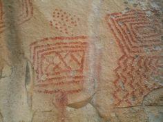 Painel rupestre na localidade Espinhos, em Piripiri (PI)