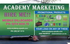The Academy Marketing is a company based in New Zealand which offers a wide range of products such as pens, apparel, headwear, bags, umbrella and much more.