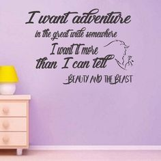 Beauty and the Beast vinyl wall decal movie saying Vinyl Wall Decals, Wall Stickers, Beauty And The Beast Bedroom, Beast Quotes, Funny Fun Facts, Disney Rooms, Oracal Vinyl, Disney Quotes, Wall Quotes
