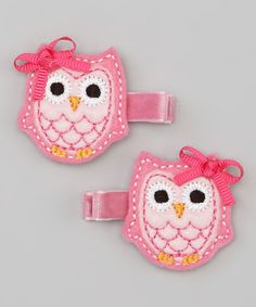 Look at this Pink Owl Clip Set on #zulily today!