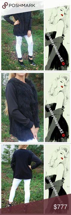 f07f61ea6982  FOXY  Black faux fur vest Boutique