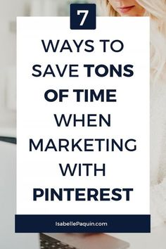 Find out how to promote your business on Pinterest without wasting time! Perfect for small businesses for learning Pinterest marketing. // Isabelle Paquin -- #pinteresrmarketing #pinteresttips