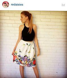 Floral Skirt. Regram. @ Primp Boutique