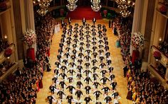 288 dancers perform during the opening ceremony of the traditional Opera Ball in Vienna.