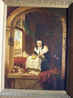1859 Belgian Painting LACE MAKER Jean Daniel STEVENS (10/29/2010)