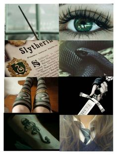Slytherin moodboard      my house is ravenclaw but also have slytherin tendencies and relate to them a lot