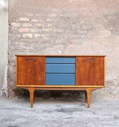 gentlemen designers mobilier vintage made in france enfilade scandinave noir sideboard teck vintage chevet chier pinterest buffet - Mobilier Vintage Paris