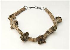 Necklace | Silke Spitzer. 'Apple tree'.  Twigs