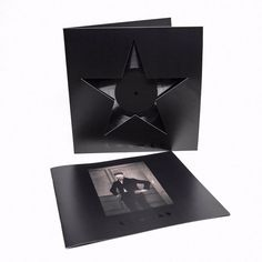 David Bowie's album Blackstar  ★ – Vinyl. Designer Jonathan Barnbrook