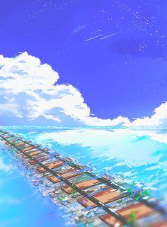 E eu poderia apenas seguir pelo destino traçado pra mim, ou... deixar o mar me levar