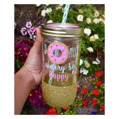 Donut Worry Be Happy - Tumbler