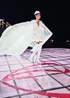 Photos from Giovanna Battaglia's Over-the-Top Wedding to Oscar Engelbe | W Magazine -Giambattista Valli couture macrame dress