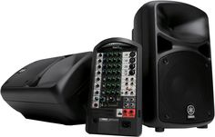 680W Portable PA with Reverb-equipped 10-channel Mixer, Two speakers with 10