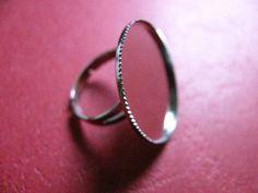 26 mm Adjustable Bezel Ring Base Silver by Turkeysupply http://etsy.me/1CwNtbY #jewelry #ring #mount #brass #jewel #gem #bezel #setting