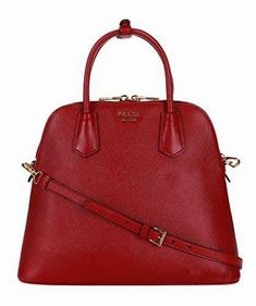 2cedb54c0df2 Prada Womens Saffiano Lux Large Satchel Bag in Red Leather Handbag Purse  BL0902 F068Z  Pradahandbags
