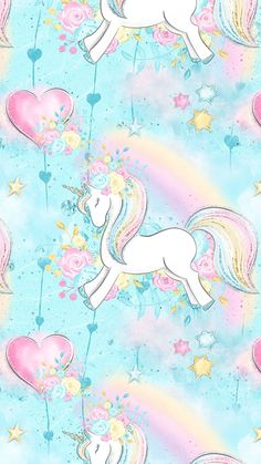 Beautiful, unique professional and personal patterns, background patterns for design Unicorn Fantasy, Unicorn Art, Cute Unicorn, Rainbow Unicorn, Unicorn Wallpaper Cute, Pink Wallpaper, Wallpaper Backgrounds, Iphone Wallpaper, Unicorn Images