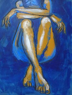 acrylic painting of nude woman back - Google Search