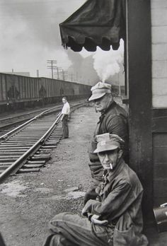 Railroad Engineers by Henri Cartier-Bresson