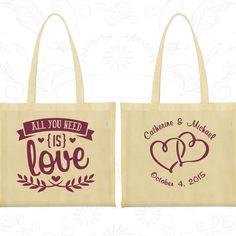 Wedding Bags, Tote Bags, Wedding Tote Bags, Personalized Tote Bags, Custom Tote Bags, Wedding Welcome Bags, Wedding Favor Bags (409)
