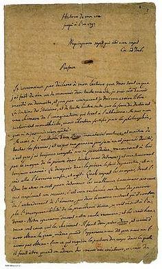 Manuscrit autographe de la préface de L'Histoire de ma vie, de Giacomo Casanova. (BnF, département des Manuscrits)