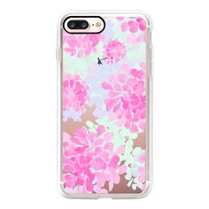 Pink petals iphone6 - iPhone 7 Case, iPhone 7 Plus Case, iPhone 7... ($40) ❤ liked on Polyvore featuring accessories, tech accessories, iphone case, iphone hard case, iphone cover case, iphone cases, pink iphone case and apple iphone case