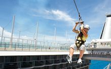 Zip Lining on your Cruise Ship