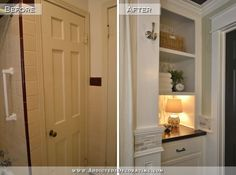 For the hall closet? Hallway Bathroom Remodel: Before & After - Addicted 2 Decorating®