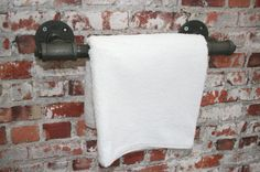 "HAND TOWEL RAIL  Industrial 3/4"" Water Pipe Upcycled  Heavy Duty Small Bathroom / wc / Kitchen Tea Towel  -  Vintage Victorian Style"