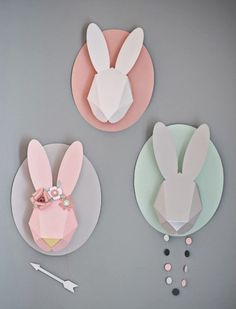 Origami bunnies for Easter