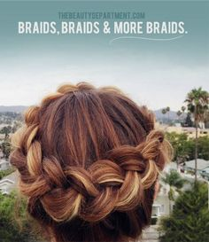 Dealing with layers when braiding.  Smart!