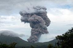 SMOKE SIGNAL: Mount Lokon spewed volcanic ash and smoke in Tomohon, Indonesia, Monday. (European Pressphoto Agency)
