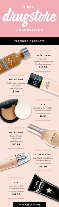 The old saying is true: you do get what you pay for. But every so often, you get a great deal for very little, and these drugstore foundations are proof of that. We've rounded up the best affordable foundations that won't break the bank.