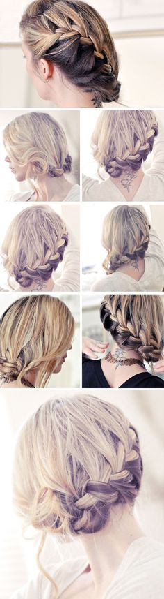 Pretty Side French Braid | Click Pic for 12 DIY Wedding Hairstyles for Medium Hair | Easy Hairstyles for Long Hair