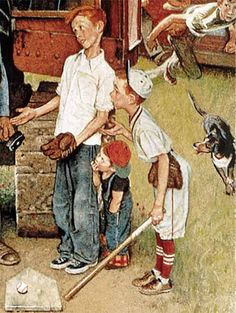 "Norman Rockwell - Rockwell Models in ""Progress?"" From August 21, 1954"