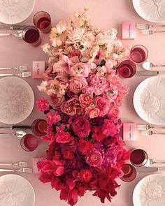 the ombre floral centerpiece #JustFabinlove #Wedding