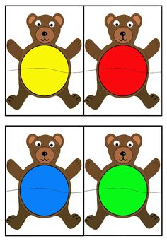Color sorting and matching activities Autism Activities, Color Activities, Kindergarten Activities, Preschool Activities, Bears Preschool, Preschool Colors, Teaching Colors, Preschool Learning, Infant Activities