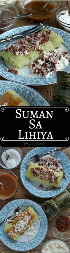 Suman sa Lihiya: Making Suman sa Lihiya is actually easier than you think. The hardest part is perhaps deciding which topping to enjoy it with. Get the recipe here now! Suman sa Lihiya or Suman Bulagta is a Filipino delicacy of glutinous rice Filipino Dishes, Filipino Desserts, Filipino Recipes, Asian Recipes, Filipino Food, Ethnic Recipes, Pinoy Dessert, Philippines Food, Pinoy Food