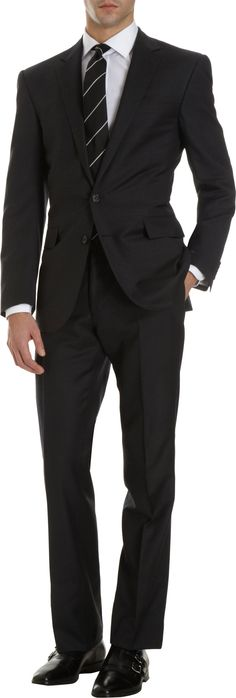 Ralph Lauren Black Label Anthony Two-Button Suit at Barneys Warehouse Fashion Moda, Suit Fashion, Mens Fashion, Fashion Outfits, Fashion Black, Modern Fashion, Fashion Clothes, Sharp Dressed Man, Well Dressed Men