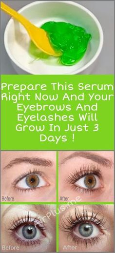 Prepare This Serum Right Now And Your Eyebrows And Eyelashes Will Grow In 3 Days #eyebrow