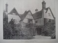 Kelsale Lodge Ferndale blt 1890 -a fine Arts& Crafts style residence built by. Architect Geo Devey -local rumour it was used as P.W accommodation for Italian officers during W. site now occupied by Ferndale and 3 houses in Hilbert Road St James' Park, Tunbridge Wells, Tudor, Great Britain, Old Photos, Beautiful Homes, Building A House, Past, England