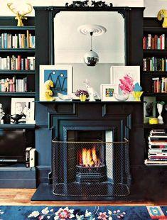 black-fireplace-mantels