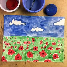 Veteran's Day Poppy Painting · Art Projects for Kids - adjust with california poppies Veterans Day art projects can make use of the bright, red poppy flower, which has a long history of association with this special day. Remembrance Day Activities, Remembrance Day Poppy, Poppy Craft For Kids, Art For Kids, Projects For Kids, Art Projects, Crafts For Kids, Paper Plate Poppy Craft, Veterans Day Poppy