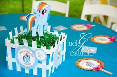 Table at a My Little Pony Party #mylittlepony #partytable