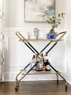 The Art Of The Bar Cart – 2 Ways With Serena & Lily Happy New Year Friends, Happy New Years Eve, Bar Cart Essentials, Winter Tent, Bar Cart Styling, Tent Sale, Tropical Style, Thinking Outside The Box, Bar Accessories