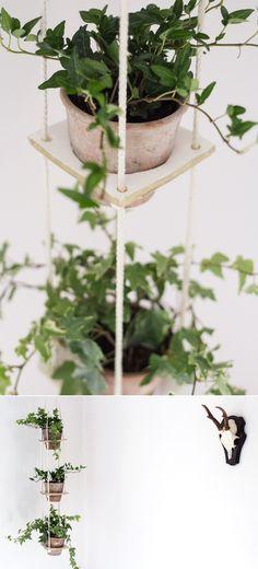 DIY: 3 tiered clay hanging planter